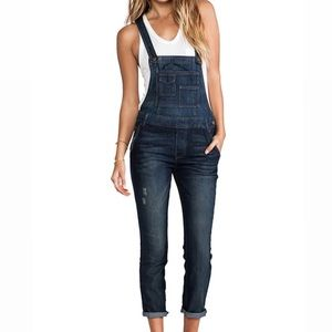 Free People | Washed Denim Overall 28